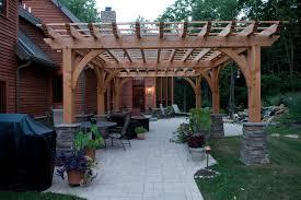 Timber Patio Designs Custom Home Timber Frame Contemporary Patio
