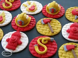 firefighter cupcake toppers get fired up firefighter cakes ideas