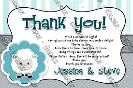 baby shower thank you cards novel concept designs baby shower thank you card