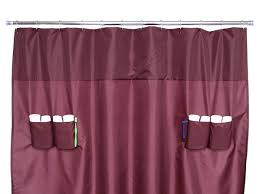 Shower Curtain With Pockets Bathroom Flexible Shower Curtain That Saves Space U2014 Finemerch Com