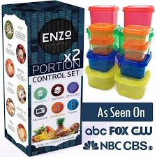 enzo weight amazon com portion containers 2 set 14 pieces for