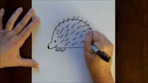 draw cartoon porcupine simple drawing lesson kids