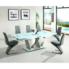 White Glass Extending Dining Table Extendable Glass Dining Table Sets Aciarreview Info