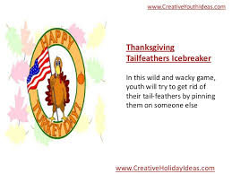 thanksgiving ideas high energy thanksgiving for youth
