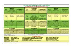 2018 Calendar Islamic Activities And Events Calendar Imof Islamic Movement Of Florida