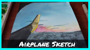 watercolor airplane sketch youtube