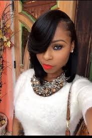 pic of black women side swept bangs and bun hairstyle top 21 gorgeous bob hairstyles for black women