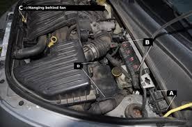 chrysler pt cruiser radiator fan locating radiator fan relays high speed and low speed pt cruiser forum