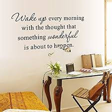 Home Letters Decoration Amazon Com English Letters Wake Up Every Morning Wall Decal Home