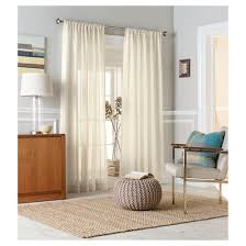 Target Linen Curtains Leno Weave Sheer Curtain Panel Threshold Target