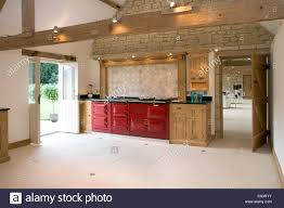 Aga Kitchen Designs Brand New Contemporary Upmarket Fitted Kitchen With Aga Cooker