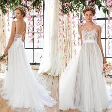 flowy wedding dresses discount cheap flowy wedding dresses sheer illusion neckline