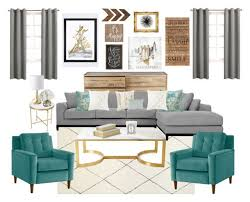 Gold Living Room Ideas Teal Grey Gold Living Room