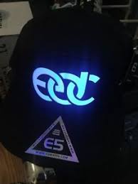 insomniac edc snapback hat led light up edm electric