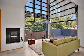 seattle clear garage doors living room industrial with concrete