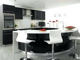 cuisine moderne noir et blanc bar de cuisine design drawandpaint co