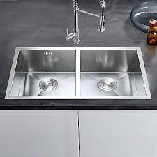 commercial handmade stainless steel kitchen sink catering double