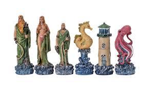 buy hades vs poseidon fantasy resin chess set at chessafrica co za