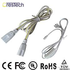 2018 2 pin us plug power code 6ft t8 led tube wire switch t5