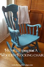Furniture Wood Rocking Chair Wonderful How To Spray Paint A Wooden Rocking Chair It U0027s Less Than 10
