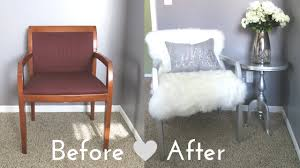 Chair For Living Room Cheap Diy Faux Fur Chair On A Budget For 50