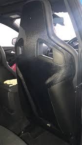 siege recaro megane rs renault megane rs 275 carbon fiber seatback cover a pair for