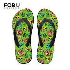 instantarts design women u0027s sandals skull print casual summer beach