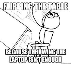 Flipping Table Meme - flip a table memes quickmeme