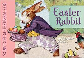 easter bunny books easter rabbit postcard book laughing elephant publishing
