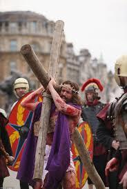 good friday crucifixion of jesus re enacted in trafalgar square