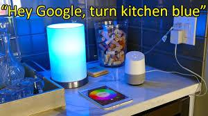 smart lights google home using google home to control your smart light bulbs youtube