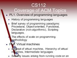 cs112 structure of programming languages a smorgasbord of topics