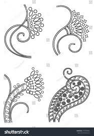 nouveau ornaments stock vector 155966684