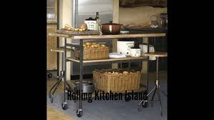 rolling kitchen island portable kitchen island youtube