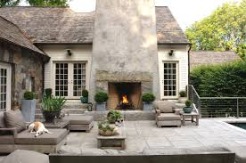 farmhouse outdoor lighting exterior design outdoor fireplaces in farmhouse patio with beige