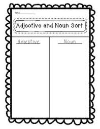 hunting for nouns verbs and adjectives grammar pinterest