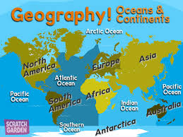 The World Map With Continents And Oceans by Geography Scratch Garden