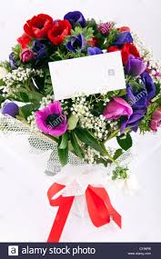 beautiful bouquet of flowers beautiful bouquet of flowers with blank white card to put your