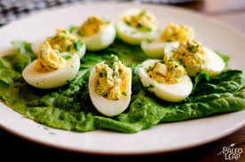 garlic and parsley deviled eggs paleo leap