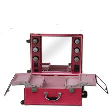 makeup case with lights and mirror lighted makeup case makeup vanity professional makeup mirror red