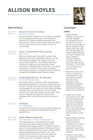 director of communications resume samples visualcv resume