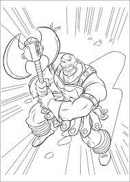 Coloriage de le bourreau ennemi de Thor