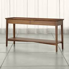 Crate And Barrel Office Chair Bradley Walnut Console Table With Drawers Crate And Barrel