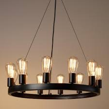 round chandelier light round 12 light edison bulb chandelier best round chandelier and