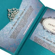 teal wedding invitations light teal color luxury silk pocket fold design for wedding