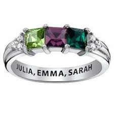 s birthstone ring 10k white gold diamond and square amethyst birthstone ring