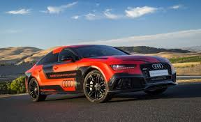 audi r 7 audi s self racing rs7 prototype attacks a u s racetrack without