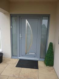 Contemporary Front Doors Aluminium Front Door Installation In Torquay Devon Aluminium