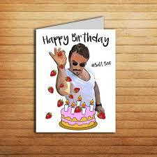 salt bae birthday card printable funny birthday card for