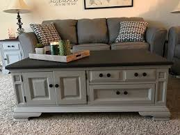 chalk paint coffee table repainting coffee table chest love how easy and professional